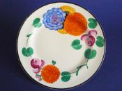 Early Susie Cooper Gray's Pottery Tea Plate - Floral Pattern 7503 c1928 #2 (Sold)